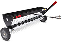 Brinly spike aerator with transport wheels