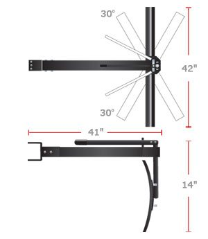 "BB 56BH spec - 42"" Sleeve Hitch Rear Blade <span>