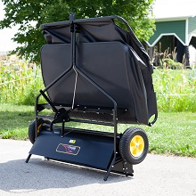 """sweeper storage - 42"""" Lawn Sweeper With Dethatcher 