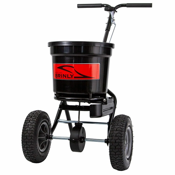 spreaderwithdeflectorbrinly - 50 lb. Push Spreader with Deflector Kit | P20-500BHDF