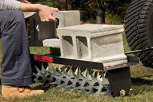 tow spike aerator adding weights