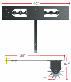 brinly spike aerator product dimensions
