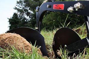 cutting ground plow