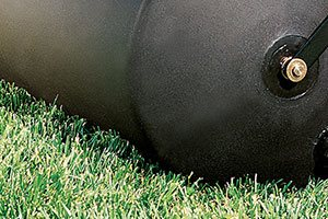 rounded edge lawn roller