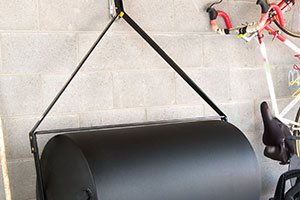 wall storage of lawn roller
