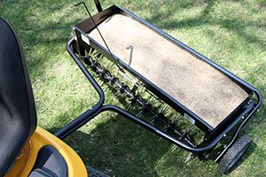 full hopper of seed aeration