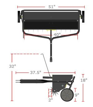 aerator spreader dimensions
