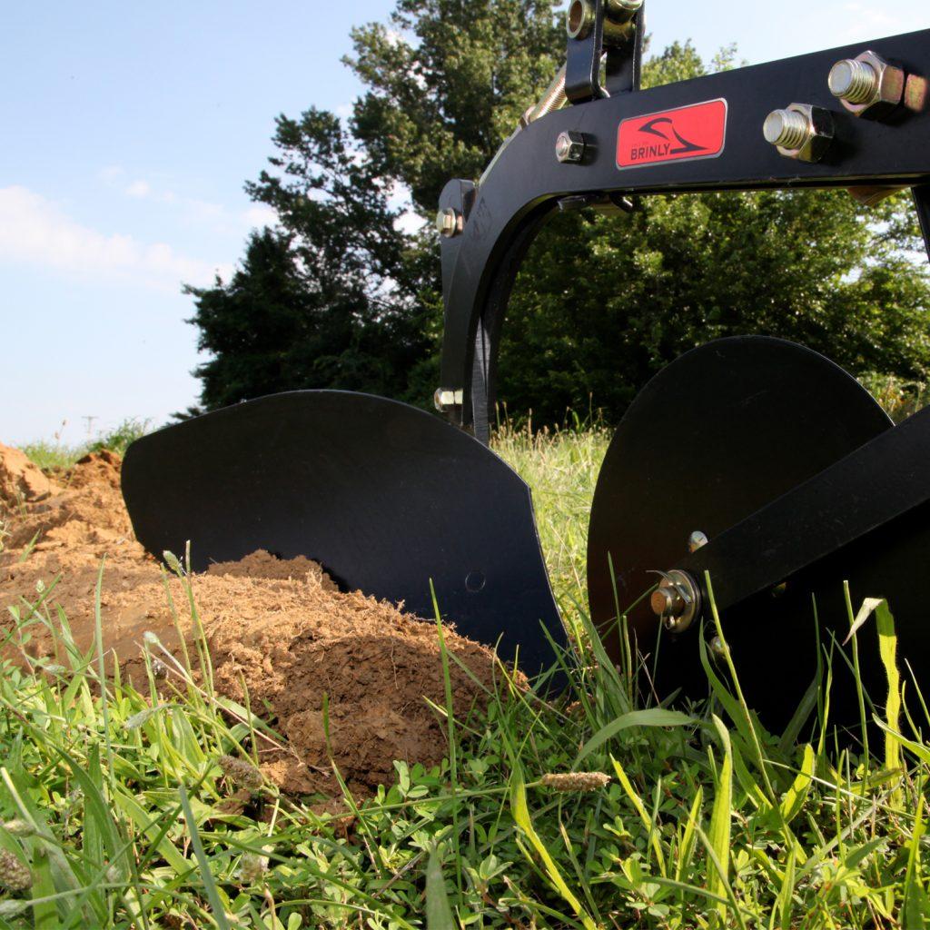 steel plow moldboard cutting dirt