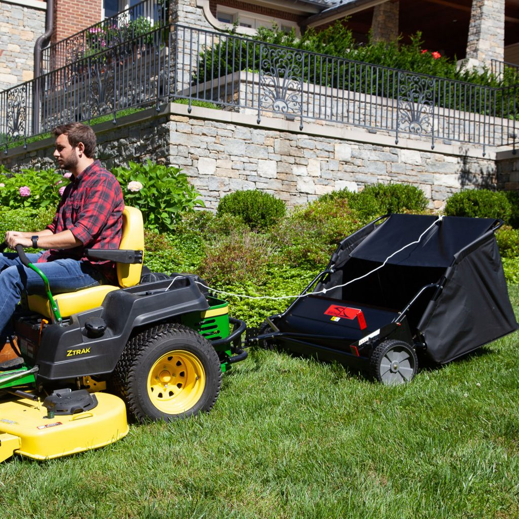 lawn sweeper for ztr mower