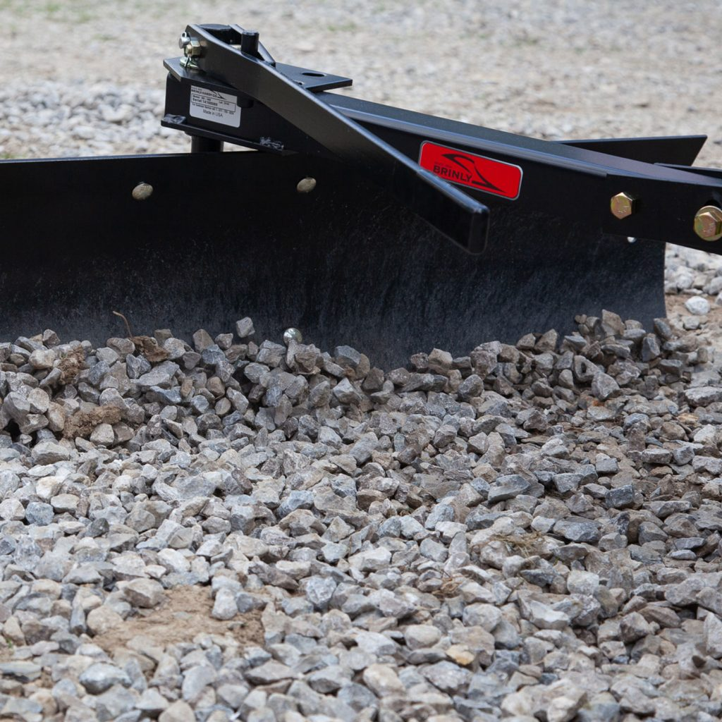rear blade pulling gravel driveway
