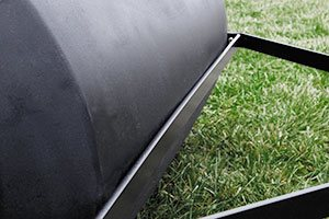 scraper bar grass roller