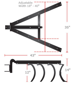 brinly sleeve hitch dimensions