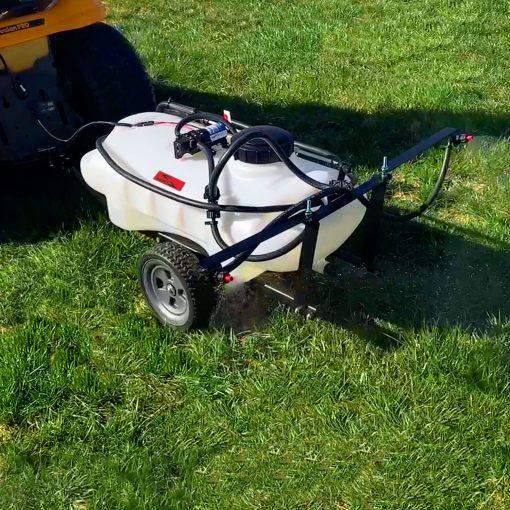 brinly 15 gallon sprayer outdoors in grass