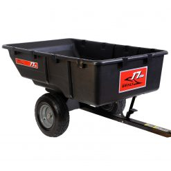 brinly 17 cu ft poly dump cart facing right