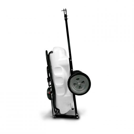 15 gallon tow sprayer in storage position