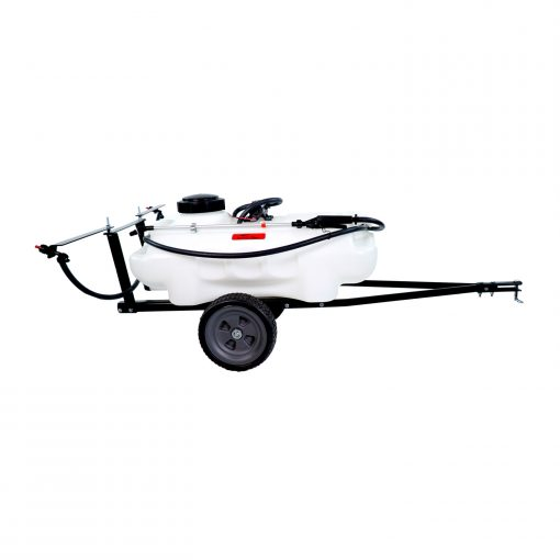 brinly tow lawn sprayer facing right