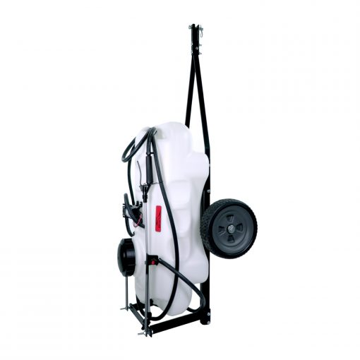 brinly 15 gallon lawn sprayer storage position facing left