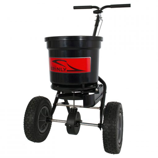 brinly push spreader with deflector left