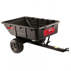 brinly 10 cu ft poly dump cart right