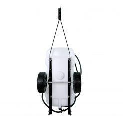 brinly 15 gallon lawn sprayer storage position backside